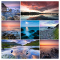 Ireland collage of beautiful landscapes from republic of howth malahide killarney national park Stock Images