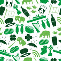 Ireland country theme symbols color icons seamless pattern eps10