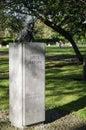 Ireland dublin james joyce bronze bust in st stephen green Stock Photography