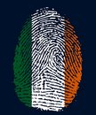 Ireland fingerprint Royalty Free Stock Image
