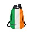 Írsko vlajka batoh na bielom