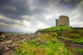 Ireland historic minard castle on the dingle peninsula in Stock Photo