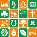 Ireland icons Royalty Free Stock Photo