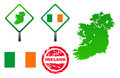 Ireland icons set Royalty Free Stock Photos