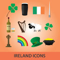 Ireland icons set eps symbols and Stock Photo