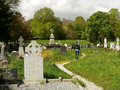 Ireland killarney national park old cemetery of the muckross abbey ruins Stock Image