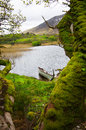 Ireland landscape in connemara mountains Stock Photography