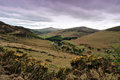 Ireland lough dan valley beautiful landscape in the wicklow mountains Royalty Free Stock Photo