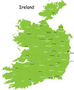 Ireland map Royalty Free Stock Photo