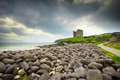 Ireland rocks leading up to historic minard castle on the dingle peninsula in Royalty Free Stock Photography