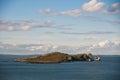 Ireland s eye island in howth co dublin Royalty Free Stock Photos