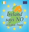 Ireland says NO to Lisbon Treaty Royalty Free Stock Photos