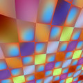 Iridescent tiles abstract d perspective curved beautiful Royalty Free Stock Photo
