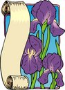 Iris Bookplate Royalty Free Stock Photography