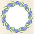 Iris round frame
