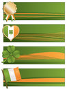 Irish banners Stock Photo