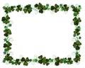 Irish border Ivy and Shamrocks Royalty Free Stock Photo