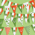 Irish bunting background Royalty Free Stock Photography