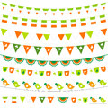 Irish bunting set Stock Images
