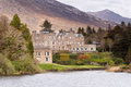 Irish castle in Connemara mountains Stock Image