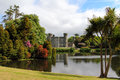 Irish castle of johnstown taken from the beautiful gardens and pond wexford county ireland Stock Photography