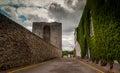Irish castle street listowel in county kerry ireland Royalty Free Stock Photos