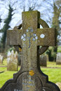 Irish celtic cross with clover pattern Royalty Free Stock Photography
