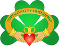 Irish Claddagh & Shamrock/eps Royalty Free Stock Images
