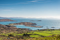 Irish coast green meadows on overlooking the atlantic ocean in county kerry dingle ireland famous ring of kerry and wild atlantic Stock Photos