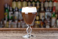 Irish coffee alcoholic cocktail Royalty Free Stock Photo