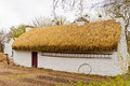 Irish cottage in countryside old village Stock Photo