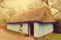 Irish cottage in countryside old village Stock Images