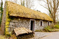 Irish cottage in countryside old village Royalty Free Stock Images