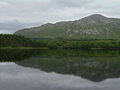 Irish countryside lake a in the Royalty Free Stock Photo