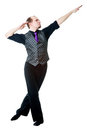 Irish dancer posing Stock Photo