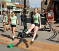 Irish dancers perform on St. Patrick's Day Royalty Free Stock Photography