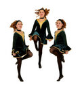 Irish Dancers Trio Performing Stock Photo