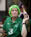 Irish fan in Poznan Royalty Free Stock Images