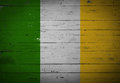Irish flag painted on a wooden board Royalty Free Stock Photo