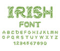 Irish font. National Celtic alphabet. Traditional Ireland orname