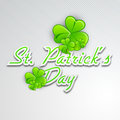 Irish four leaf lucky clovers background Royalty Free Stock Photo