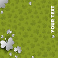 Irish four leaf lucky clovers background for Happy St. Patrick's Day Royalty Free Stock Photo