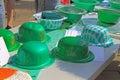 Irish Green Hats Royalty Free Stock Photo