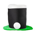 Irish hat of saint patrick day isolated on white Stock Photography