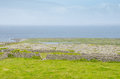 Irish landscape typical in aran islands republic of ireland Royalty Free Stock Photo