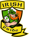 Irish leprechaun rugby player Stock Image