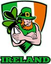 Irish leprechaun rugby player Royalty Free Stock Photos