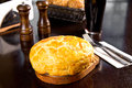 Irish pie baked with minced meat Royalty Free Stock Photo