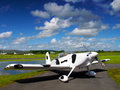 Irish plane parked on runway Royalty Free Stock Photography