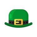 Irish shamrock icon in flat style design. Three leaf clover symb